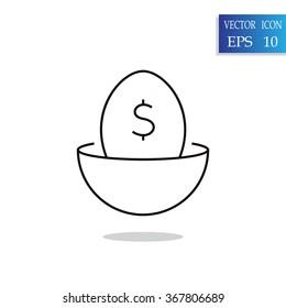 nest egg line art icon for apps and websites