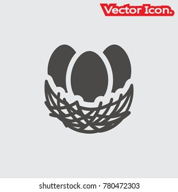 Nest icon isolated sign symbol and flat style for app, web and digital design. Vector illustration.