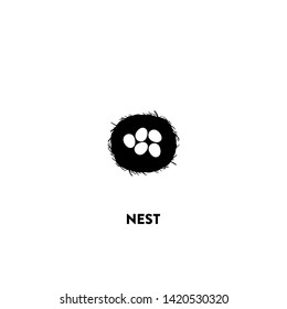 nest icon vector. nest sign on white background. nest icon for web and app