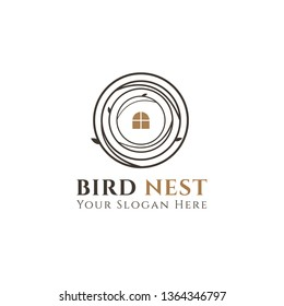 Nest Logo Design isolated on white background