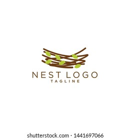 Nest Logo Design Vector for Icon and factory Logo