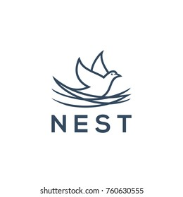 nest logo template vector illustration