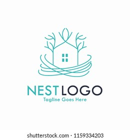 Nest Logo vector Concept Creative, Real estate Business Logo Symbol