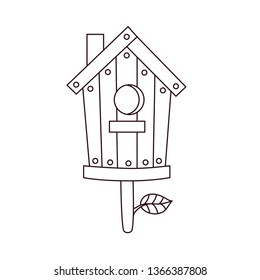 Nesting box doodle line vector icon black and white illustration