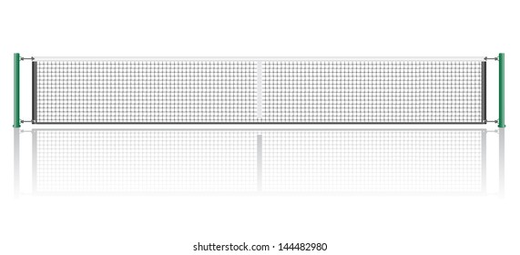 net for the game of tennis vector illustration isolated on white background