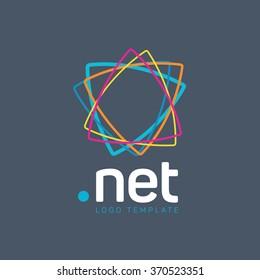 Net logo. Network logo. Connect logo. Digital logo. Communication logo