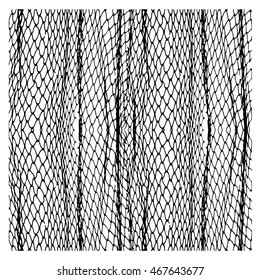 Net pattern. Rope net vector silhouette. Soccer, football, volleyball, tennis and tennis net pattern. Fisherman hunting net rope texture / pattern.