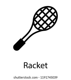 A net type racket attach with wooden stick depicting tennis racket