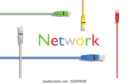net work cables background