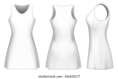 Netball dress vector templates for your design. Fully editable handmade mesh. Vector illustration.
