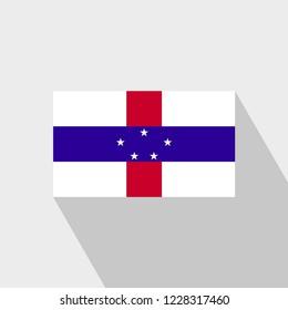 Netherlands Antilles flag Long Shadow design vector