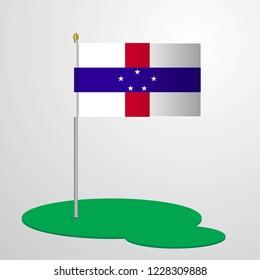 Netherlands Antilles Flag Pole