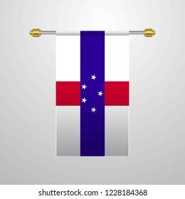 Netherlands Antilles hanging Flag