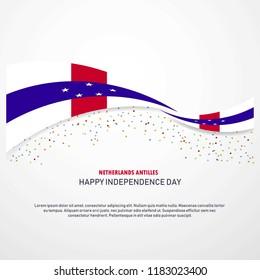 Netherlands Antilles Happy independence day Background
