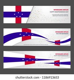 Netherlands Antilles independence day abstract background design banner and flyer, postcard, landscape, celebration vector illustration