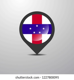Netherlands Antilles Map Pin