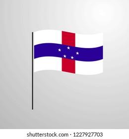 Netherlands Antilles waving Flag