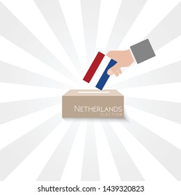 Netherlands Elections Vote Box Vector
