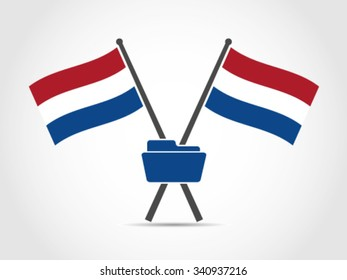 Netherlands Emblem Flag Folder Data