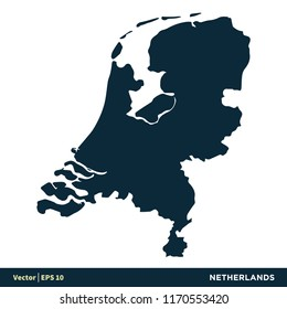 Netherlands - Europe Countries Map Vector Icon Template Illustration Design. Vector EPS 10.