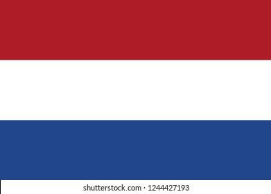 Netherlands flag, official colors and proportion correctly. National Netherlands flag. Flat vector illustration. EPS10. Flag of Israel. Symbol of Independence Day, souvenir soccer game banner.