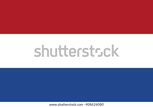 Netherlands Flag Official Colors Proportion National Stock ...