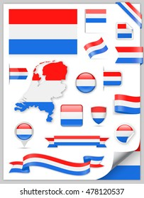 Netherlands Flag Set - Vector Collection
