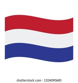 Netherlands flag. Simple vector Netherlands flag