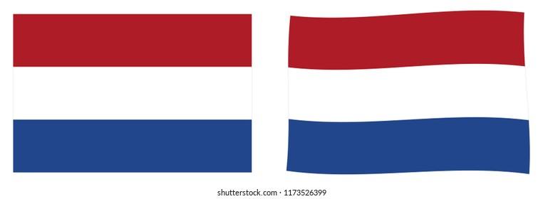 Netherlands (Holland) flag. Simple and slightly waving version.
