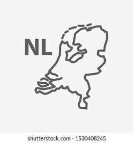 Netherlands icon line symbol. Isolated vector illustration of netherlands icon sign concept for your web site mobile app logo UI design.