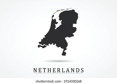 Netherlands Map on white background - Vector illustration eps 10