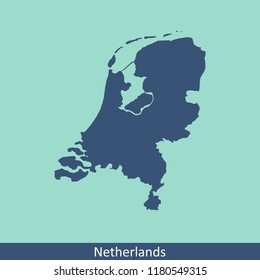 Netherlands map vector