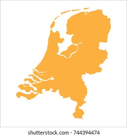 Netherlands map vector illustration