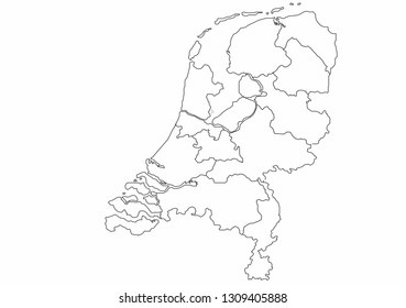 Netherlands map vector illustration, country maps, maps