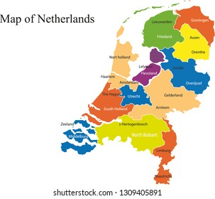Netherlands map vector illustration, netherlands map, country maps, maps