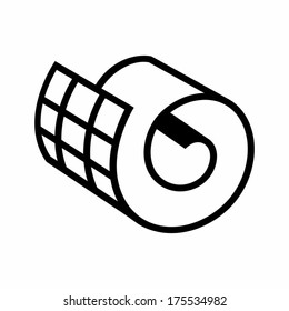 Netting roll icon Branding Identity Corporate vector logo design template Isolated on a white background
