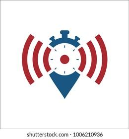 network alarm icon vector