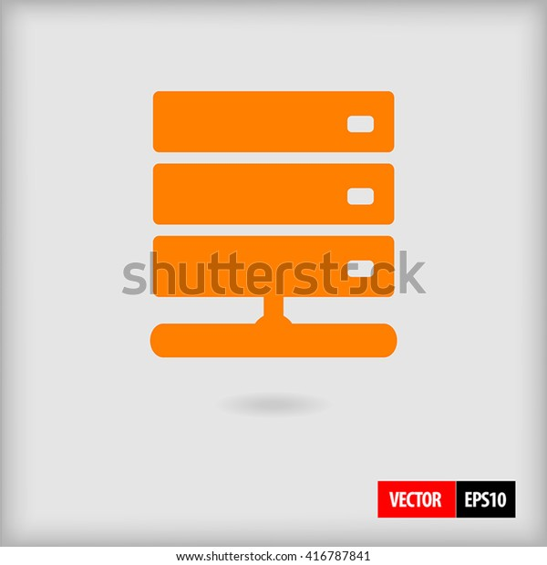 Network Attached Storage Nas Server Connected Stock Vector (Royalty