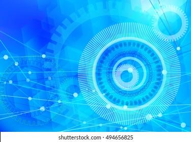network background blue