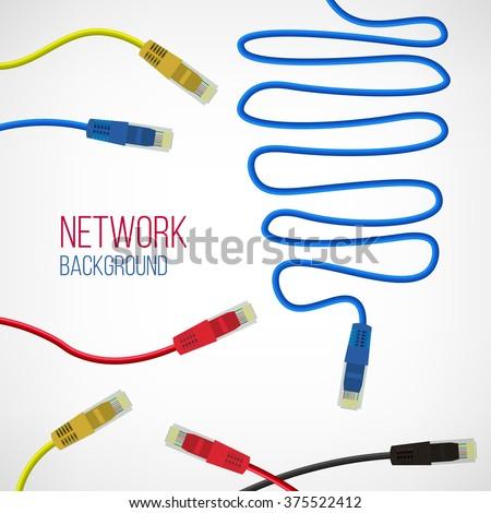 Amazing Network Background Patch Cord Network Connection Stock Vektorgrafik Wiring 101 Ferenstreekradiomeanderfmnl