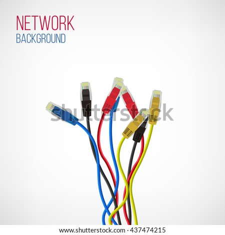 Astonishing Network Background Patch Cord Network Connection Stock Vector Wiring 101 Cularstreekradiomeanderfmnl