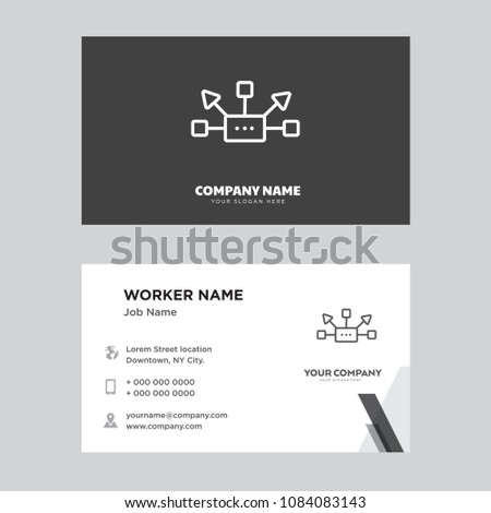 Network business card design template visiting stock vector royalty network business card design template visiting for your company modern horizontal identity card vector cheaphphosting Images