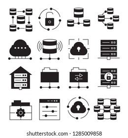 network, cloud computing and server icons
