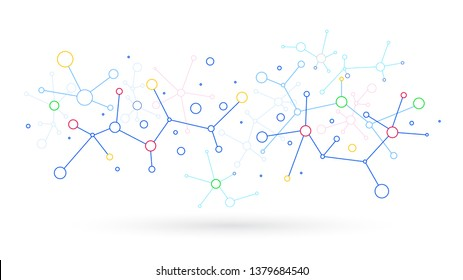 Network communication sharing particles vector background