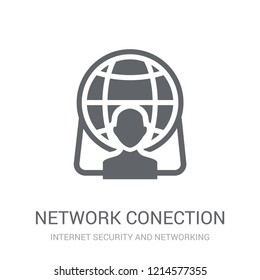 network Conection icon. Trendy network Conection logo concept on white background from Internet Security and Networking collection. Suitable for use on web apps, mobile apps and print media.