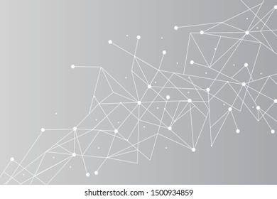 Network connect background, abstract vector. Digital background with dots and lines for nodes, data and ai design.Abstract futuristic ai network, connecting lines and dots. Vector illustration