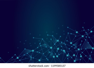 Network connection isolated on blue background. For web site, wallpaper, poster, placard, ad, cover and print materials. Creative art, modern abstract concept. Vector illustration network, eps 10