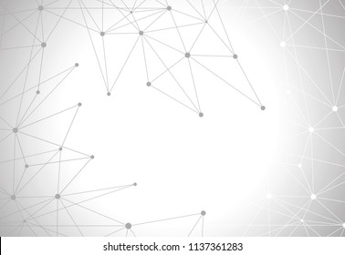 Network connection isolated on gray background. For web site, wallpaper, poster, placard, ad, cover and print materials. Creative art, modern abstract concept. Vector illustration network, eps 10
