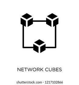 network Cubes icon. network Cubes symbol design from Networking collection. Simple element vector illustration on white background.