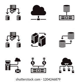 Network and Database icon set vector